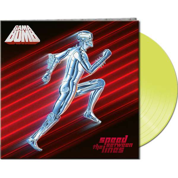 GAMA BOMB - Speed Between The Lines - Ltd. Gatefold CLEAR YELLOW Vinyl