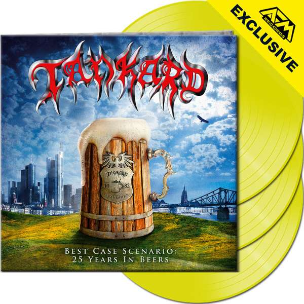 TANKARD - Best Case Scenario - 25 Years In Beers - Ltd. Gatefold NEON YELLOW 3-LP - Shop Exclusive!