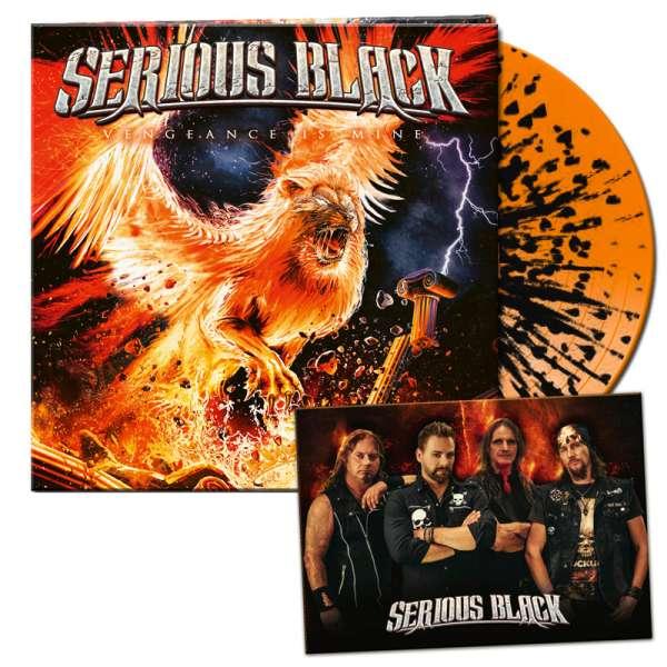SERIOUS BLACK - Vengeance Is Mine - Ltd. Gatefold ORANGE/BLACK MARBLED LP - Shop Exclusive!