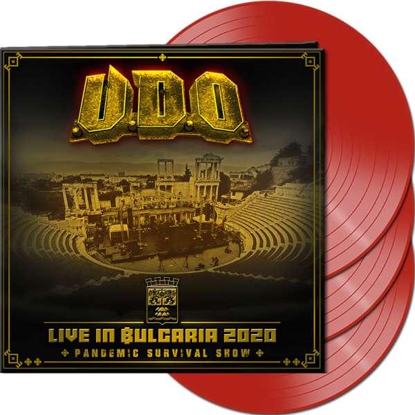 U.D.O. - Live in Bulgaria 2020 – Pandemic Survival Show - Ltd. Gatefold RED 3-LP