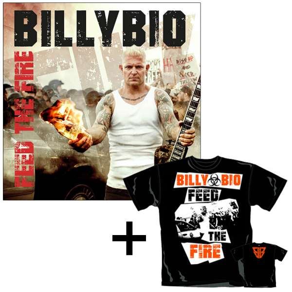 BILLYBIO - Feed The Fire - Ltd. Bundle: CD Jewelcase + T-Shirt M-XXL