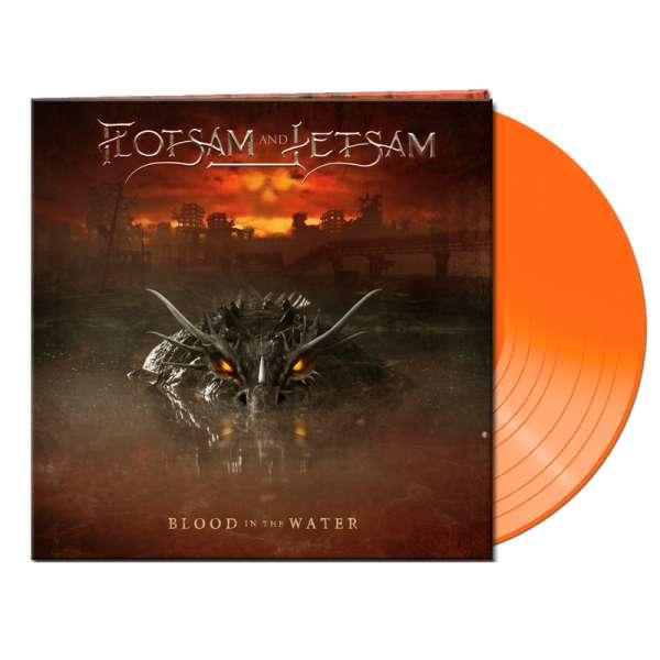 FLOTSAM AND JETSAM - Blood In The Water - Ltd. Gatefold CLEAR ORANGE LP