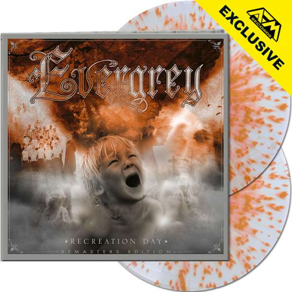 EVERGREY - Recreation Day (Remasters Ed.) - Ltd.Gatefold CLEAR/ORANGE SPLATTER 2-LP - Shop Exclusive