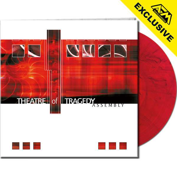 THEATRE OF TRAGEDY - Assembly (Re-Release) - Ltd. Gtf. CLEAR RED/BLACK MARBLED LP - Shop Exclusive !