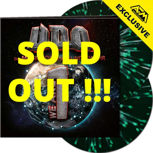 U.D.O. - We Are One - Ltd. Gatefold GREEN/WHITE SPLATTER 2-LP - Shop Exclusive !