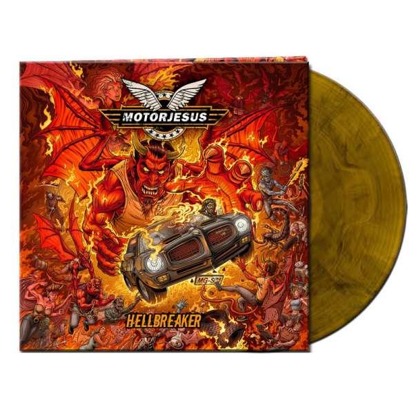 MOTORJESUS - Hellbreaker - Ltd. Gatefold ORANGE/BLACK MARBLED LP
