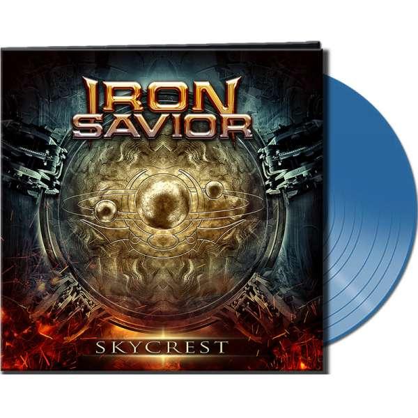 IRON SAVIOR - Skycrest - Ltd. Gatefold CLEAR BLUE Vinyl