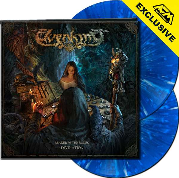 ELVENKING - Reader Of The Runes: Divination - Ltd.Gtf. CLEAR BLUE/WHITE SPLATTER 2-LP - Shop Exclusi