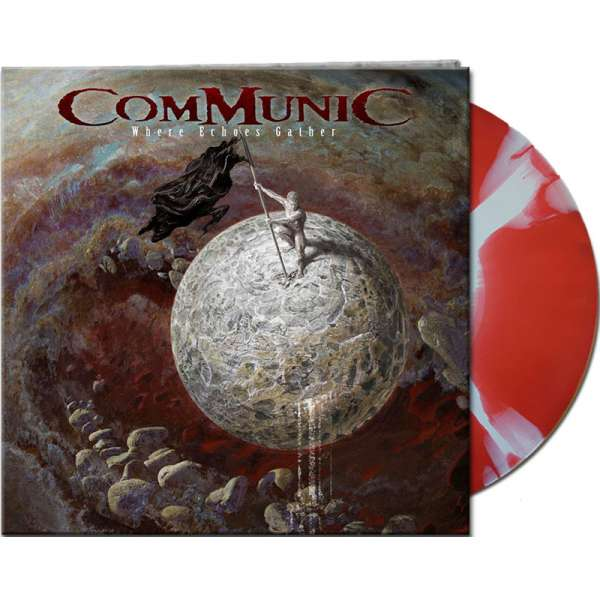 COMMUNIC - Where Echoes Gather - Ltd. Gtf. Red/White Marbled Vinyl