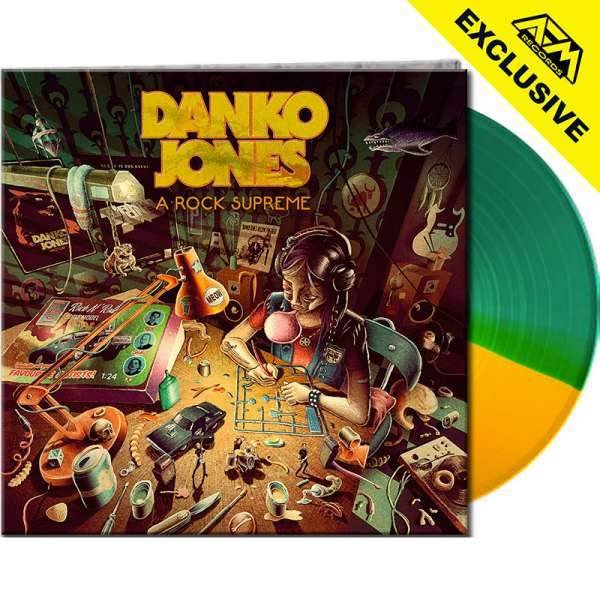 DANKO JONES - A Rock Supreme - Ltd. Gatefold GREEN/YELLOW SPLIT LP - Shop Exclusive !