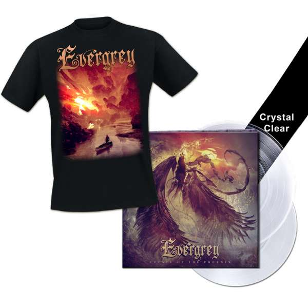 EVERGREY - Escape Of The Phoenix - Ltd. Bundle: Gtf. CRYSTAL CLEAR 2-LP + T-Shirt M-XXL - Exclusive!