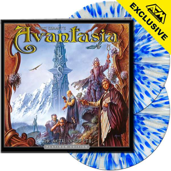 AVANTASIA - The Metal Opera Pt. II (Platinum Ed.) - Ltd.Gtf. CLEAR/BLUE SPLATTER 2-LP - Shop Exclusi