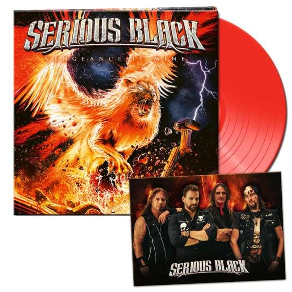 SERIOUS BLACK - Vengeance Is Mine - Ltd. Gatefold CLEAR RED LP