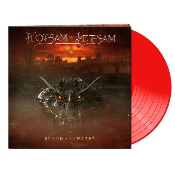FLOTSAM AND JETSAM - Blood In The Water - Ltd. Gatefold CLEAR RED LP