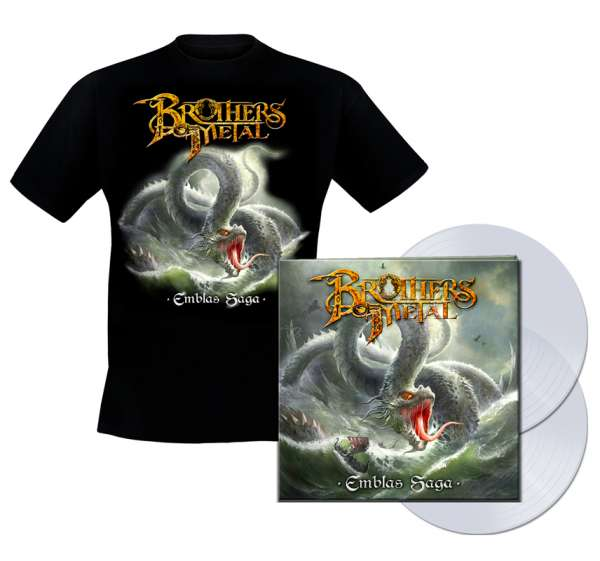 BROTHERS OF METAL - Emblas Saga - Bundle: Ltd. Gatefold CLEAR 2-LP + TS-M-XXL