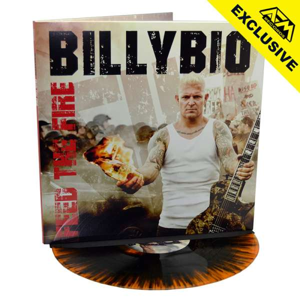 BILLYBIO - Feed The Fire - Ltd. Gatefold ORANGE/BLACK SPLATTER Vinyl - Shop Exclusive !