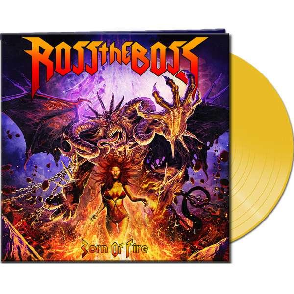 ROSS THE BOSS - Born Of Fire - Ltd. Gatefold CLEAR YELLOW LP