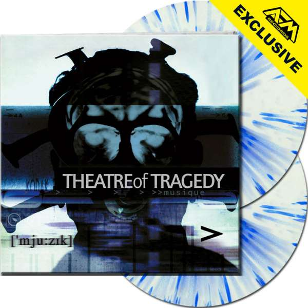 THEATRE OF TRAGEDY - Musique (20th Anniv. Ed.) - Ltd.Gtf. WHITE/BLUE SPLATTER 2-LP - Shop Exclusive!