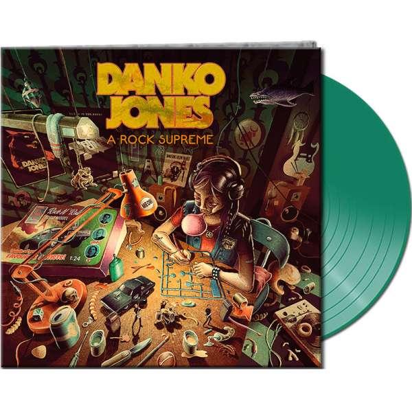DANKO JONES - A Rock Supreme - Ltd. Gatefold CLEAR GREEN LP